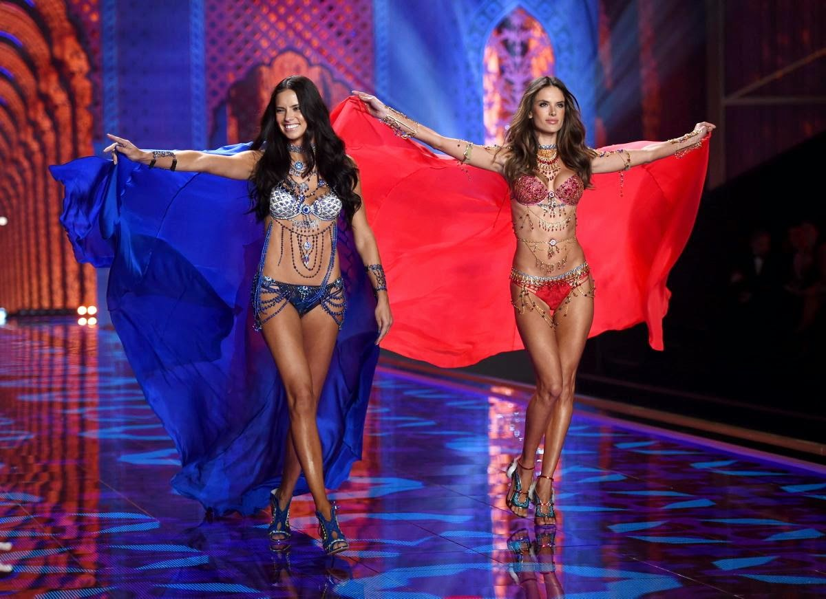 Adriana Lima & Alessandra Ambrosio - Dream Angels Fantasy Bras (2014)