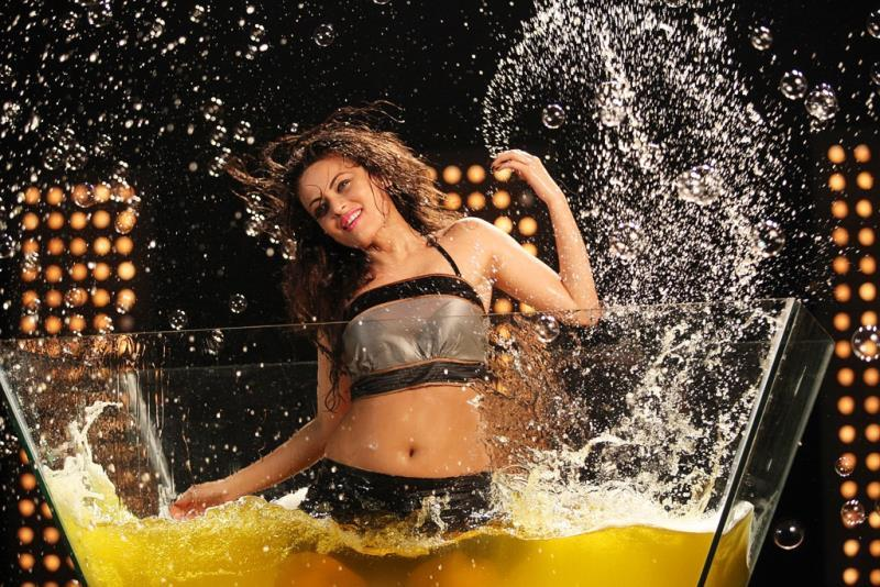 Sneha ullal spicy pics navel show  from action 3d
