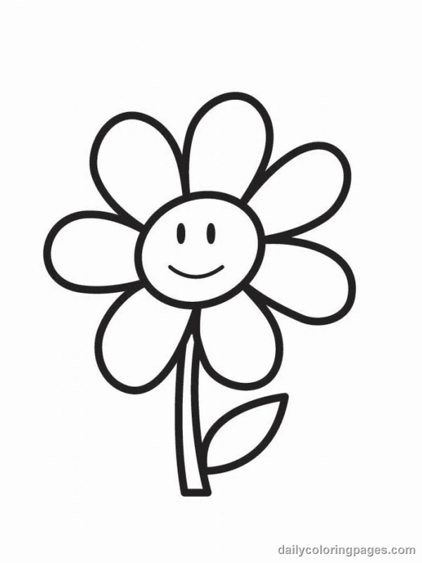 Coloring Pages Worksheets: Simple Flower Coloring Pages ...