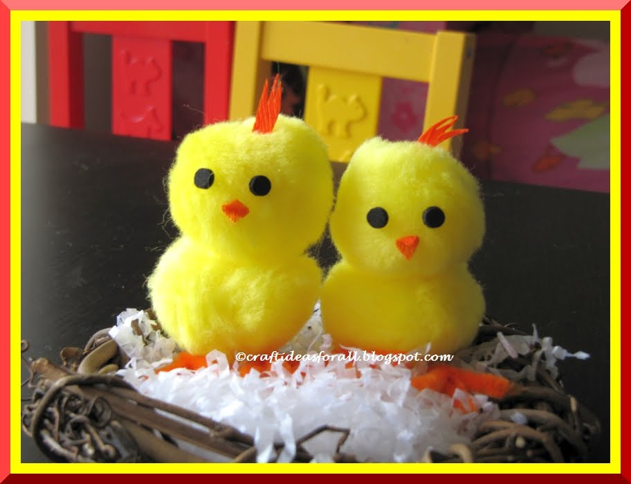 Craft ideas for all april 2011 easy easter baby chick craft negle Image collections