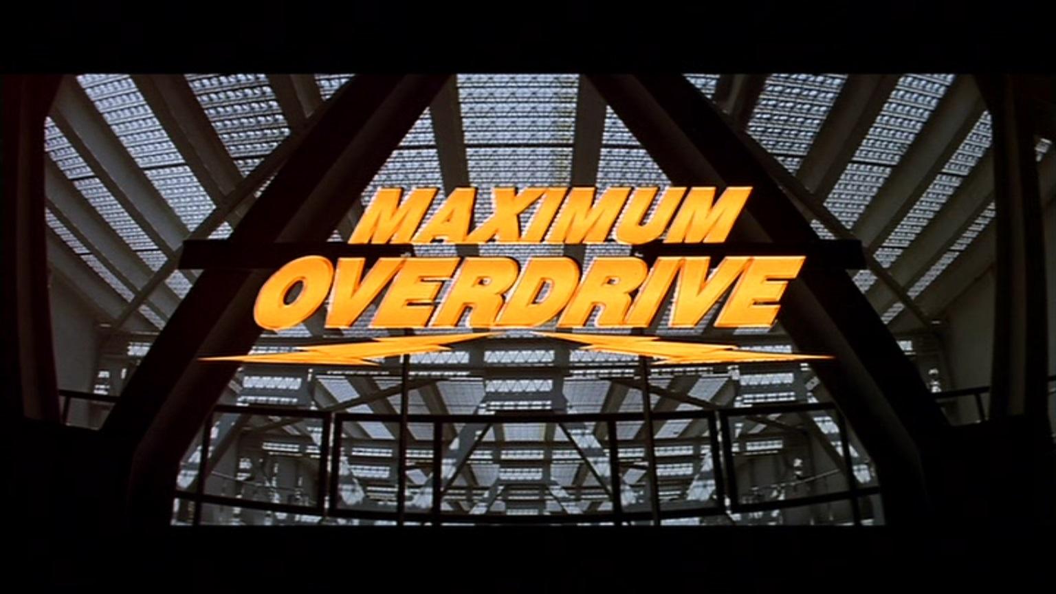 Happyotter Maximum Overdrive 1986