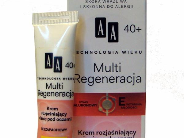 AA 40+ Multi Regeneracja, Krem rozjaśniający cienie pod oczami