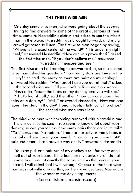 cerita bahasa inggris yang lucu