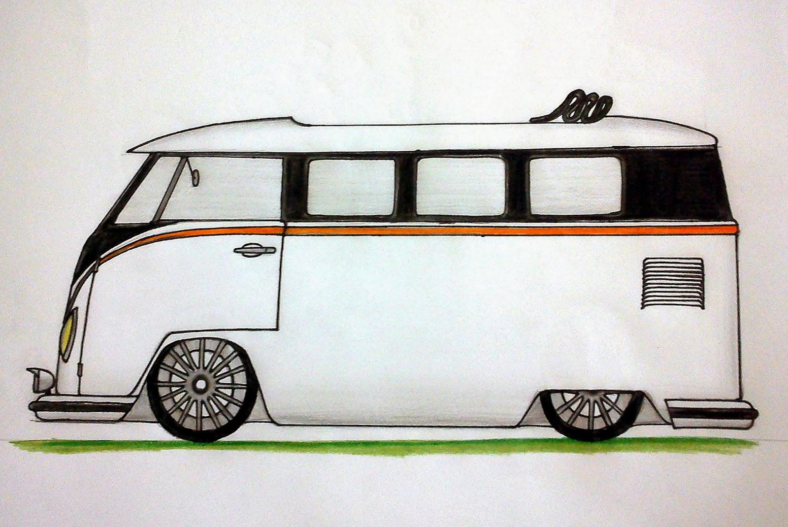 Ismael Desenhos Volkswagen Kombi Se Aposentando