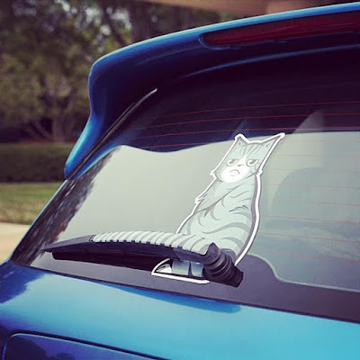 Cat Tail Car Decal