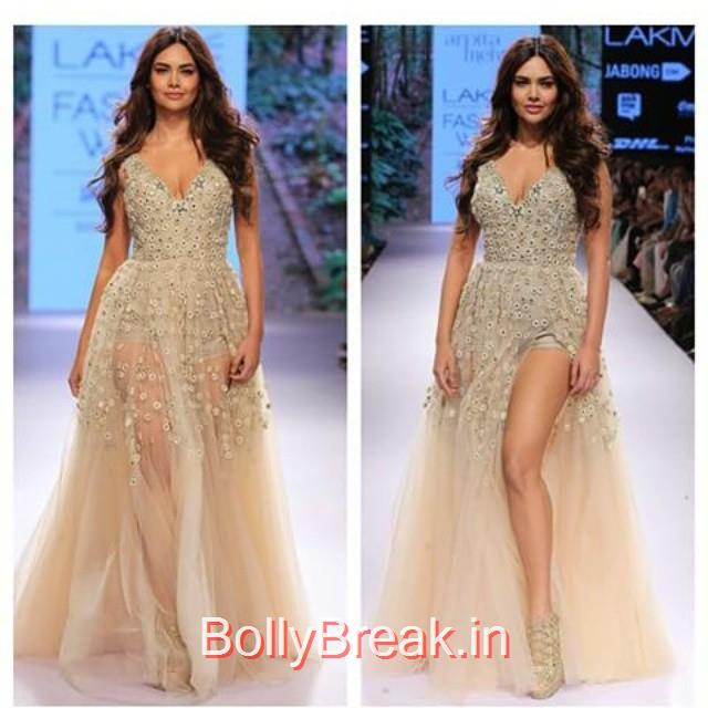the sizzling @egupta in @arpitamehta_am. loving the collection ❤❤  lakme fashion week , lfw , arpita mehta , esha gupta , how about the post on best of lakme fashion week 2015 which i witnessed?, Esha Gupta in Arpita Mehta Dress - Lakme Fashion Week 2015