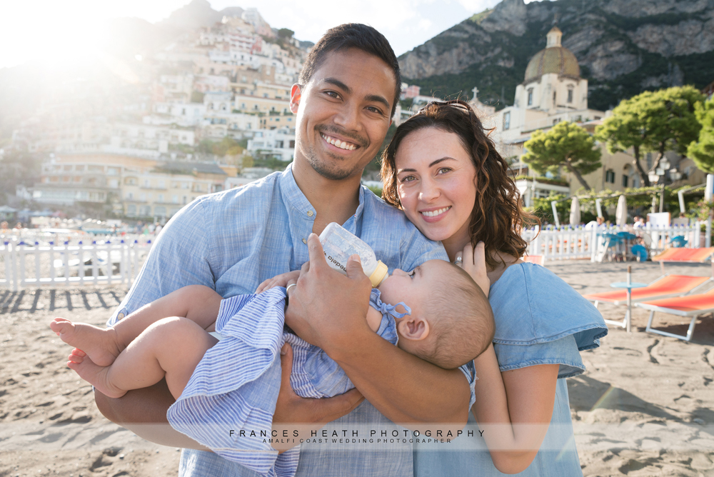 Family vacation photo in Positano