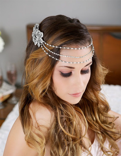 wedding hairstyle with accessories