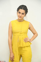 Taapsee Pannu looks mesmerizing in Yellow for her Telugu Movie Anando hma motion poster launch ~  Exclusive 109.JPG