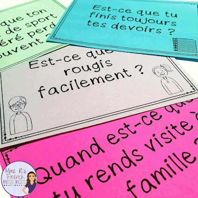 French -ir and -re verbs speaking activity
