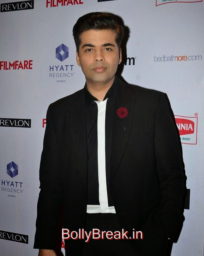 Karan Johar, 60th Britannia Filmfare Awards pre-awards Party 2015 Red Carpet Pics