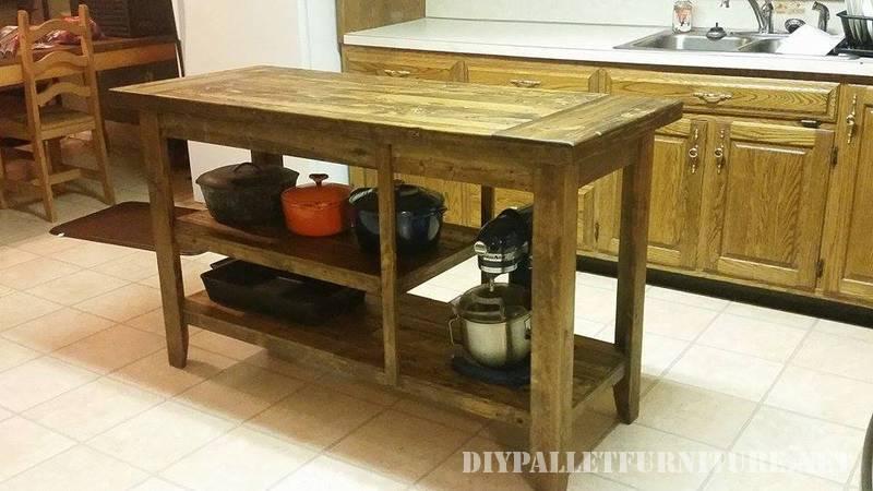 Encimera para cocina hecha con tablas for Cocinas hechas con palets
