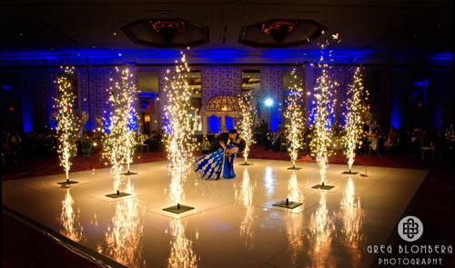 Sapphires And Saffron Indoor Fireworks