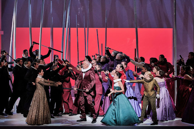 Meyerbeer: Les Huguenots - Lisette Oropesa, Paul Guy, Ermonela Jaho, Florian Sempey, Karine Deshayes - L'Opéra national de Paris (Photo Agathe Poupeney/OnP)