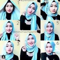 tutotial hijab pesta praktis terbaru