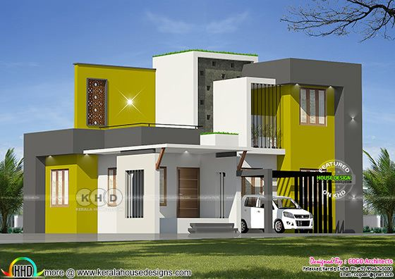 Colorful elevation same house