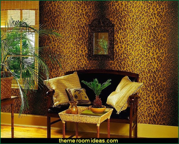 Brewster Leopard Dark Brown Animal Print Wallpape