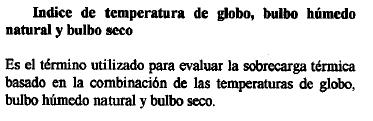 Estrés térmico. 2
