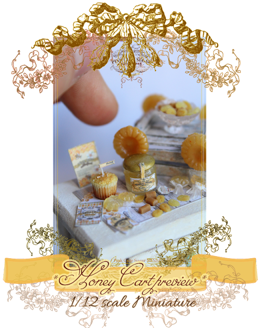 1/12th scale miniature : Honey Cart preview - lollipop & caramelle al miele