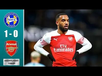 Bate Borisov vs Arsenal 1-0 Football Highlights and Goals 2019