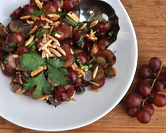Grape Salad with Almonds & Cilantro