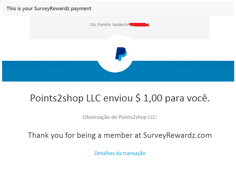 Resultado de imagem para surveyrewardz pagamento