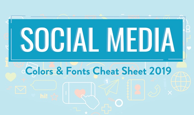 Social Media Colors and Fonts Cheat Sheet 2019