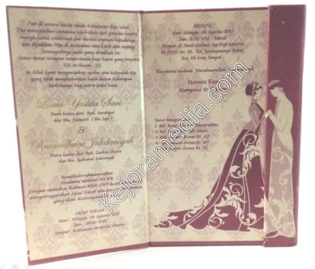 undangan pernikahan minimalis dan elegan kuningan cirebon