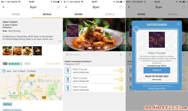 Bijan Bar & Restaurant x The ENTERTAINER App Fine Malay Cuisine Dining Experience