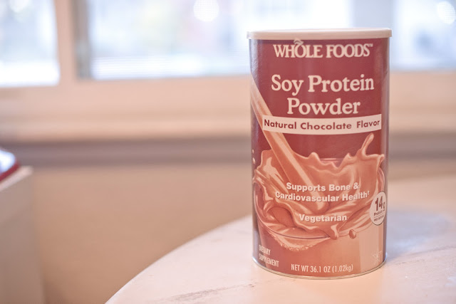 delicious soy protein powder from Whole Foods
