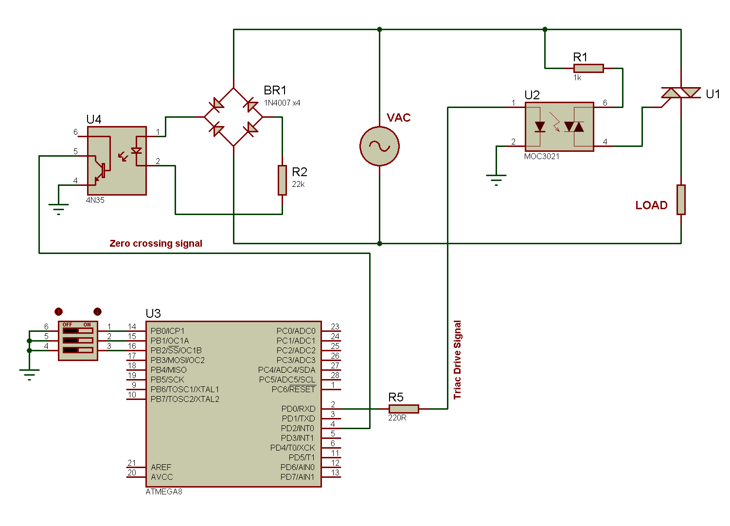 Thyristor Control Circuit Diagram Schematic Diagrams Scr Wiring Simulation Of Firing Angle For Triac Motor Speed