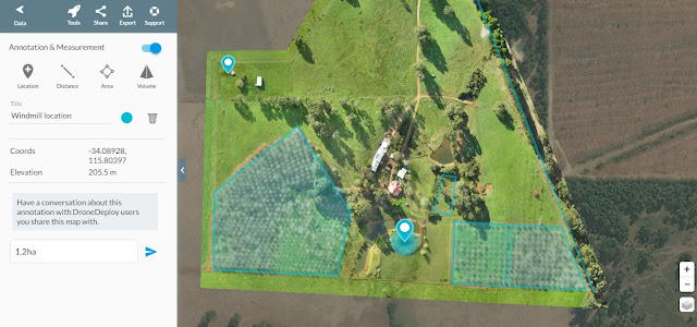 Chestnut Brae Drone scan Small farm planning map using Drone Deploy - Image 8