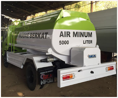 truck tangki air plat besi