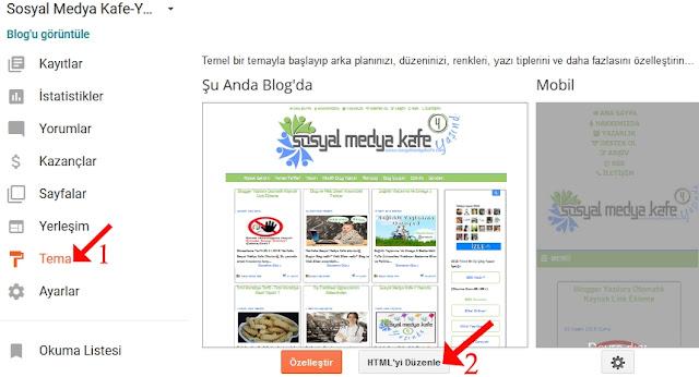 Blogger Kaynak Linki Kodu Ekleme