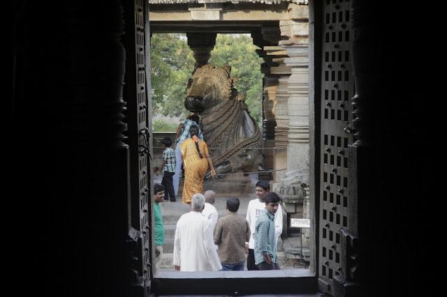 nandi temple halebid inde