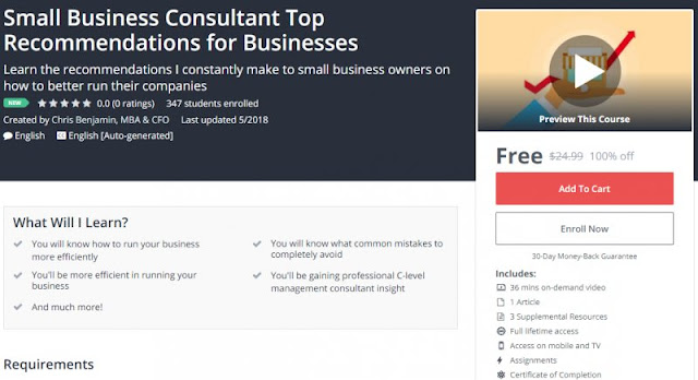 [100% Off] Small Business Consultant Top Recommendations for Businesses| Worth 24,99$