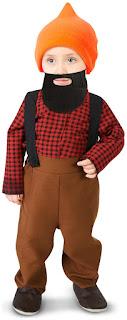 Boys Bearded Baby Lumberjack Infant Costume for Halloween
