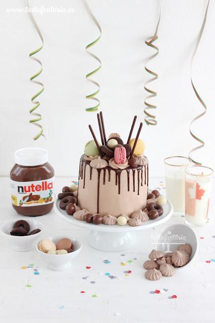 Drip cake de Nutella