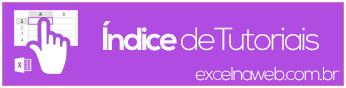 Indice - Tutoriais de Excel