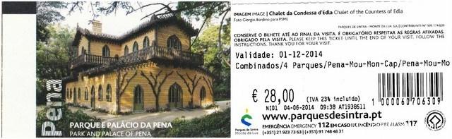 bono turístico para visitar los palacios de Sintra