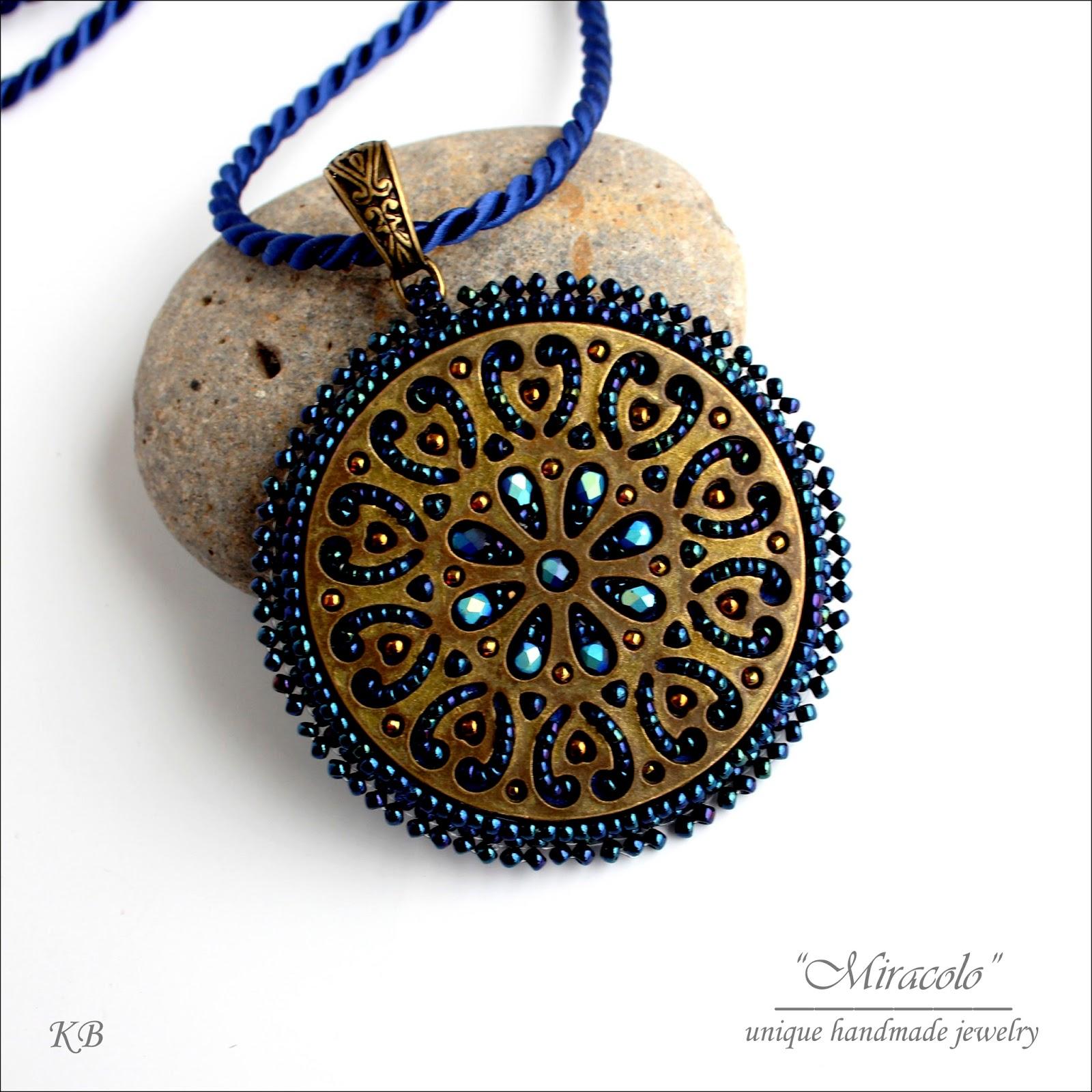 wisior z filigranem, filigree pendant