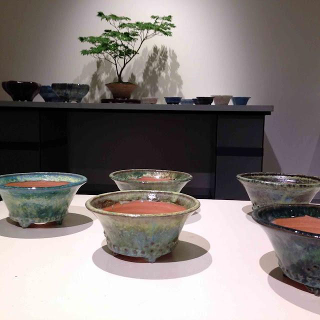 The exhibition 2017 featuring bonsai pots by Hidemi Kataoka