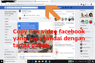 Gambar screenshot link video facebook