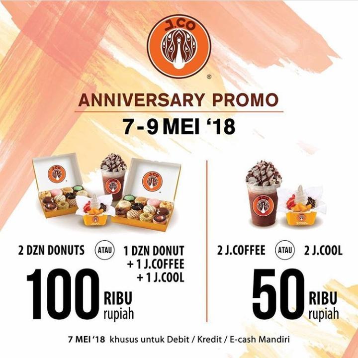 Promo Ulang Tahun JCO 2 Lusin 100 Ribu 7-9 Mei 2018