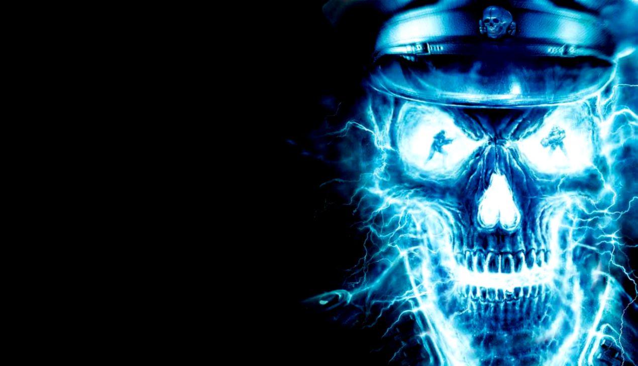 Blue Skull Hd Wallpaper Elegant Wallpapers