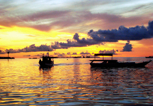 Sunset indah di Karimunjawa