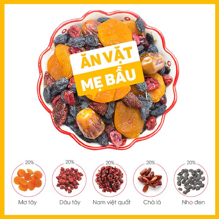 Mixfruits ăn vặt bữa sáng cho Bà Bầu đủ chất
