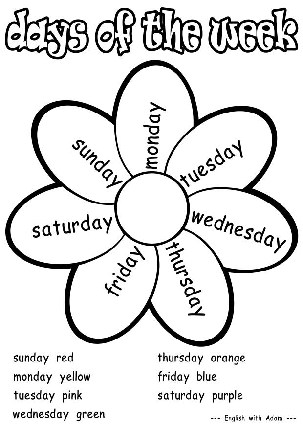 ENGLISH EPORTFOLIO: DAYS OF THE WEEK