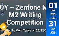 Kompetisi Blog - BOY Writing Competition Berhadiah ASUS ZenFone Max M2 ZB633KL (31 Januari 2019)