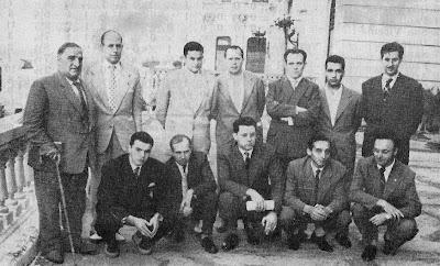 Ajedrecistas participantes en el I Gran Torneo Internacional de Ajedrez Santander 1958